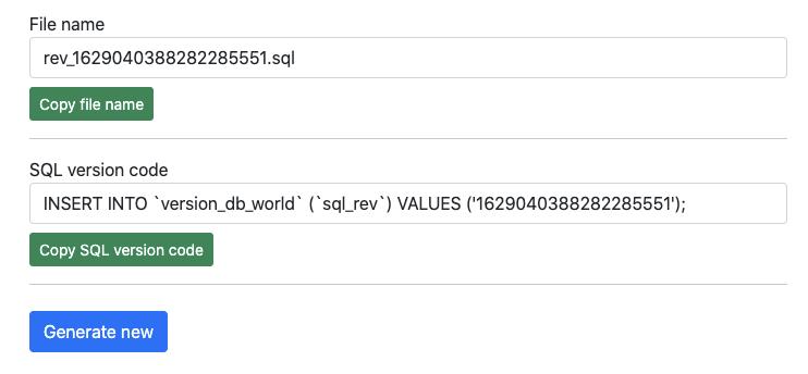 AzerothCore SQL update rev generator